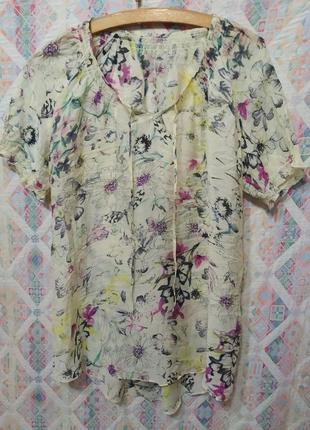 Легкая невесомая летняя блуза туника