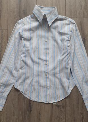 Женская офисная рубашка в полоску