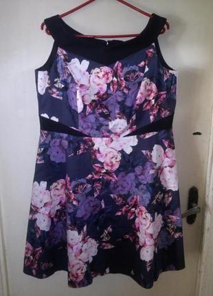 Стрейч-хлопок,платье с приоткрытыми плечами,пышной юбкой,большого размера,нидерланды