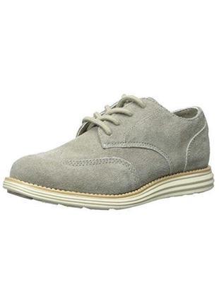 В наличии - натуральные замшевые туфли-оксфорды *cole haan* 38 р.