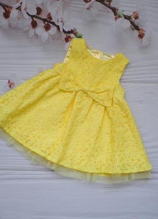Яскраве нарядне плаття для дівчинки (6-9міс) 74см