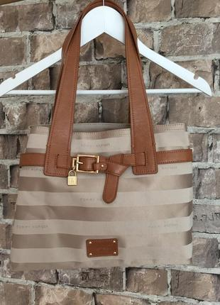 Оригінальна сумка tommy hilfiger з лого фірми, еко-кожа/текстиль