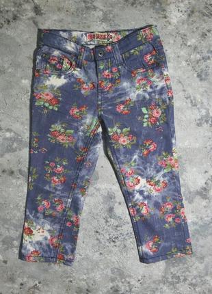 Бриджи squeeze, брючки на девочку 6 лет, джинсы с принтом