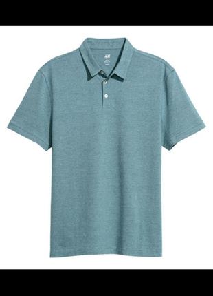 Стильное поло- футболка свежие коллекции h&m ®slim fit t-shirt