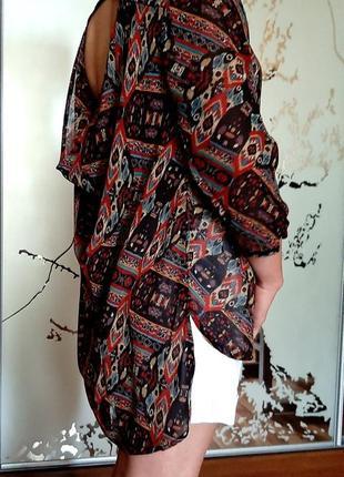 Шикарная блуза из креп шифона с открытой спиной