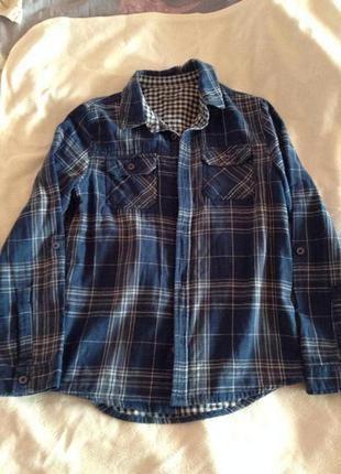 Хлопковая двойная рубашка f&f 9-10 лет.
