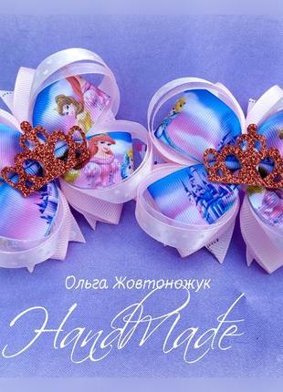 """Банты """"принцессы"""" для девочек, резиночки"""