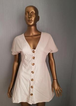 Платье asos, мини, натуральная ткань