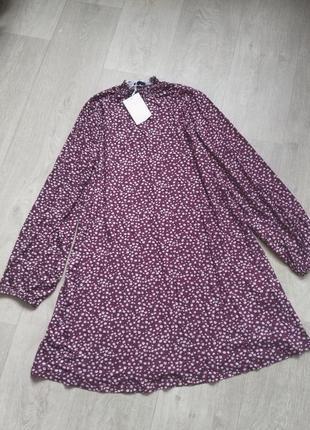 Платье в мелкий цветочек свободного кроя pull&bear