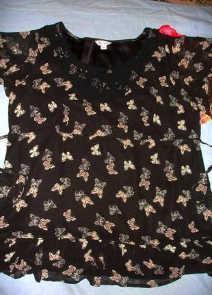 Блузка кофта туника футболка размер 58-60 / 26 черная летняя очень большого размера