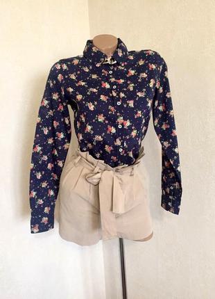Рубашка в принт/офис/классика стиль/ springfield /36 ( s). ( сток).