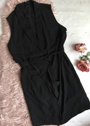 Чёрная накидка/кардиган(7xl)