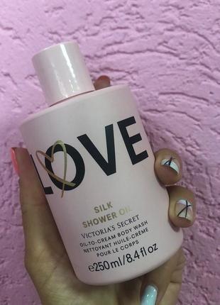 Гель для душа love silk shower oil victoria's secret