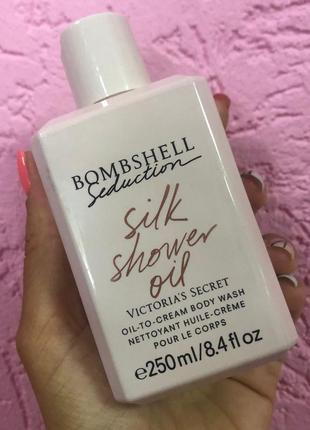 Гель для душа bombshell silk shower oil victoria's secret