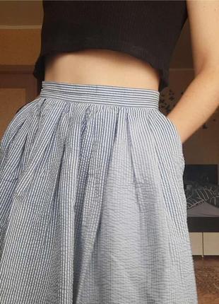 Женская  юбка в полоску с карманами oodji