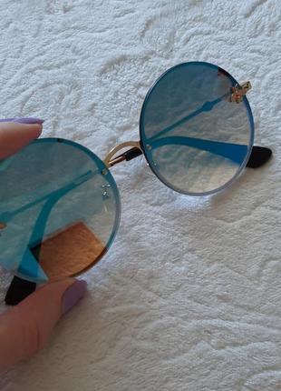 Новые круглые очки + чехол в подарок
