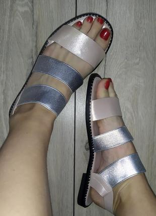 Легкие босоножки 🌿 сандали босоніжки резинки