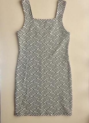 Трикотажное, базовое платье от topshop, размер 40/6/34