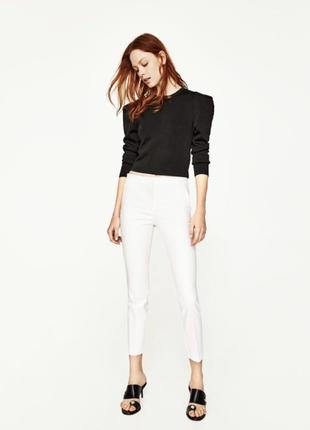 Белоснежные брюки штаны zara xs-s