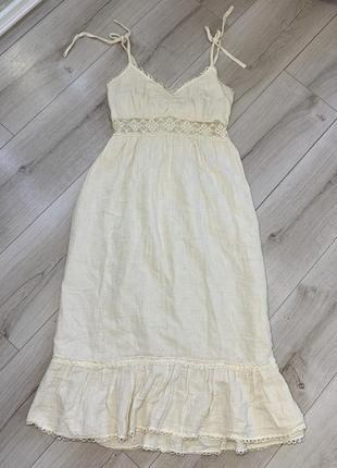 Хлопковое платье сарафан zara