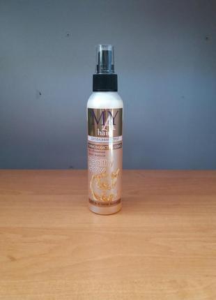 Двухфазный спрей для волос термозащита и блеск may hair термозахист для волосся