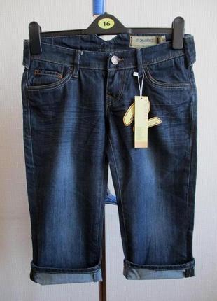 Sale -50%! джинсовые удлиненные шорты-бриджи r.marks