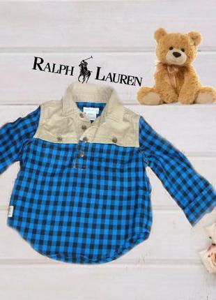 🐼🐼 ralph lauren оригинал стильная рубашка для самого маленького модника 12 м индия 🐼🐼
