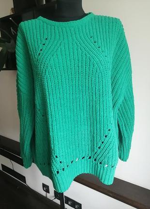 Велюровый бархатный свитер оверсайз