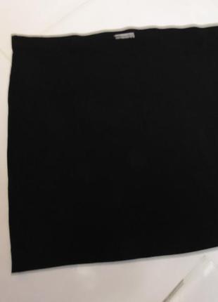 Черная узкая базовая  трикотажная мини-юбка 10-12 размер