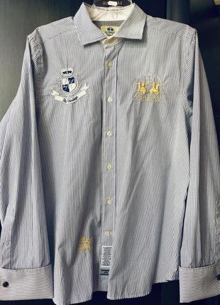 Эксклюзивная мужская рубашка дорогого бренда la martinа