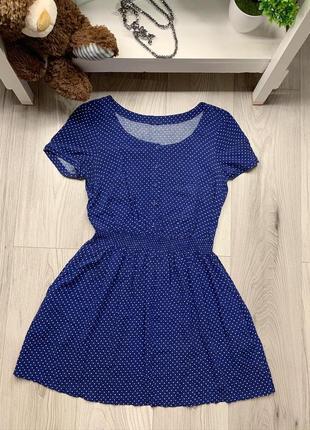 Красивое платье бренда h&m в мелкий горох ,