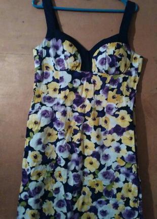 Супер платье в цветочек