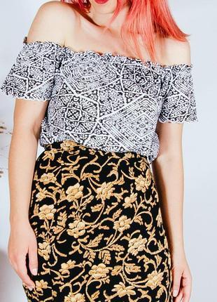 Трикотажная блузка с открытыми плечами, топик с открытыми плечами, топик блузка