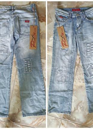 Бриджи, джинси рваные