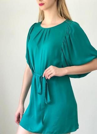 Шикарное платье с крутыми рукавами под поясок dorothy perkins