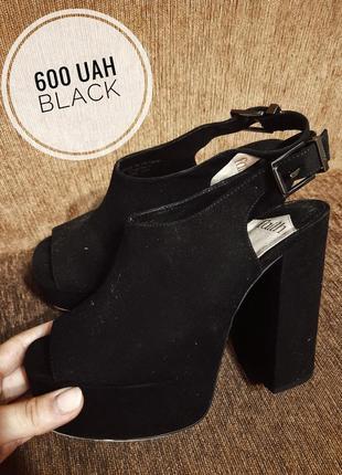 Босоножки туфли на платформе и массивном каблуке