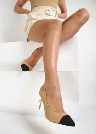 Стильные туфли лодочки карамельного цвета