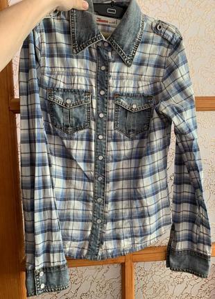 Котонова рубашка під джинси only jeans