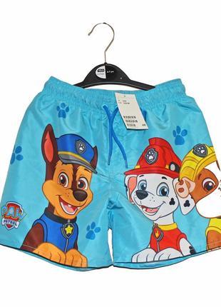 H&m. товар из англии. шорты с героями щенячего патруля.