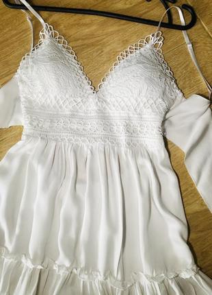 Пляжное платье белое сарафан для фотосессии