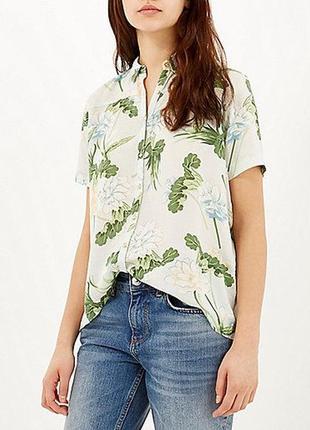Легкая рубашка цветочный принт river island 12--46 размер.