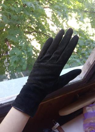 Натуральні замшеві рукавиці h&m
