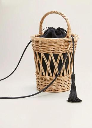 Соломенная сумка,плетений кошик. остання! більше не буде, всі розкуплені