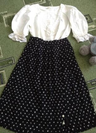 Винтажное платье имитация в стиле 1940х.