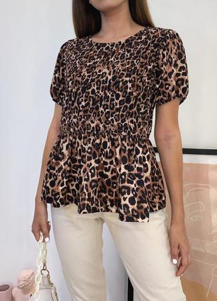 Футболка-блуза в леопардовый принт от zara