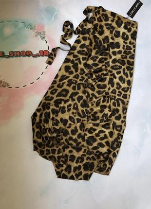 Юбка на запах в леопардовый принт