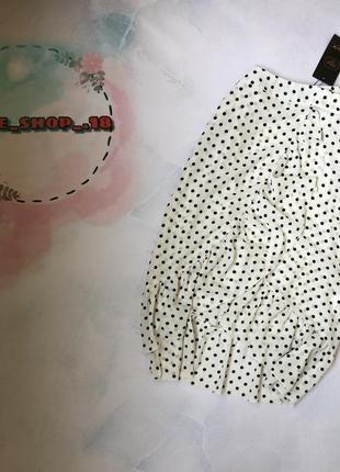 Красивая юбка в мелкий горох