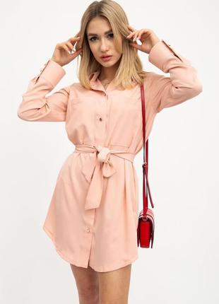 Новое стильное платье рубашка с длинным рукавом и поясом