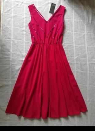 Красивое платье миди, в пайетки, сукня, сарафан, плаття