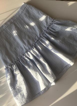 Летняя юбка в полоску